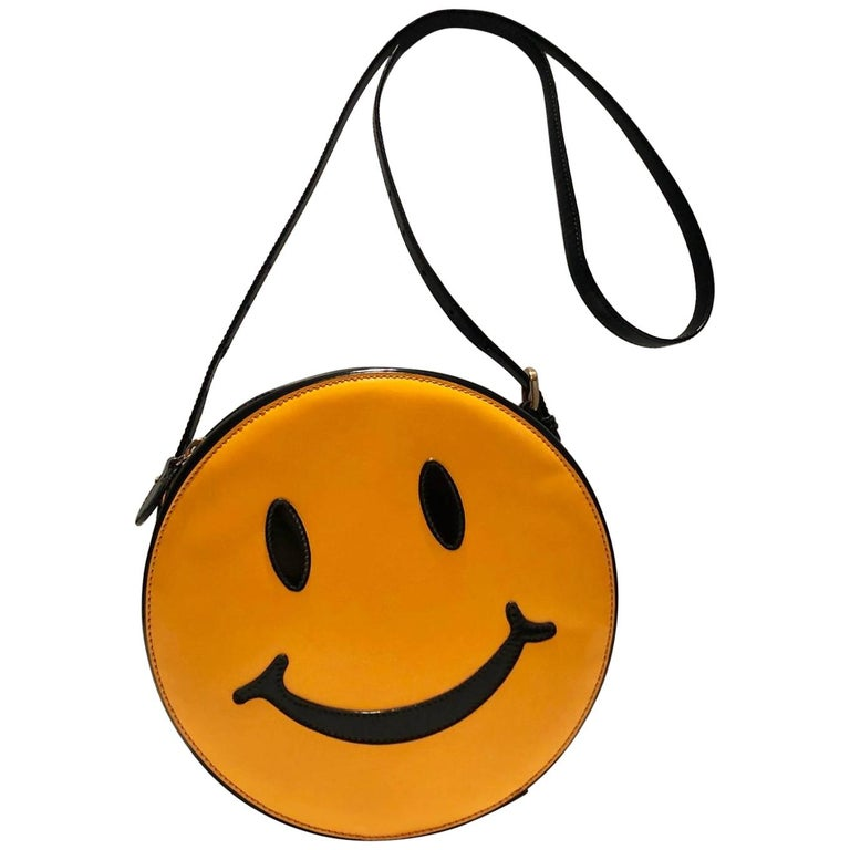 Moschino smiley face shoulder bag, 1980s, offered by Style-CHNGR