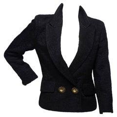 1980s Moschino Black Jacket