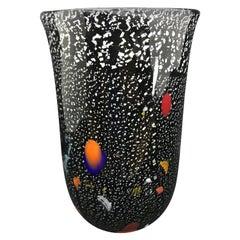 1980s Multicolored Murano Glass Vase, Made in Italy