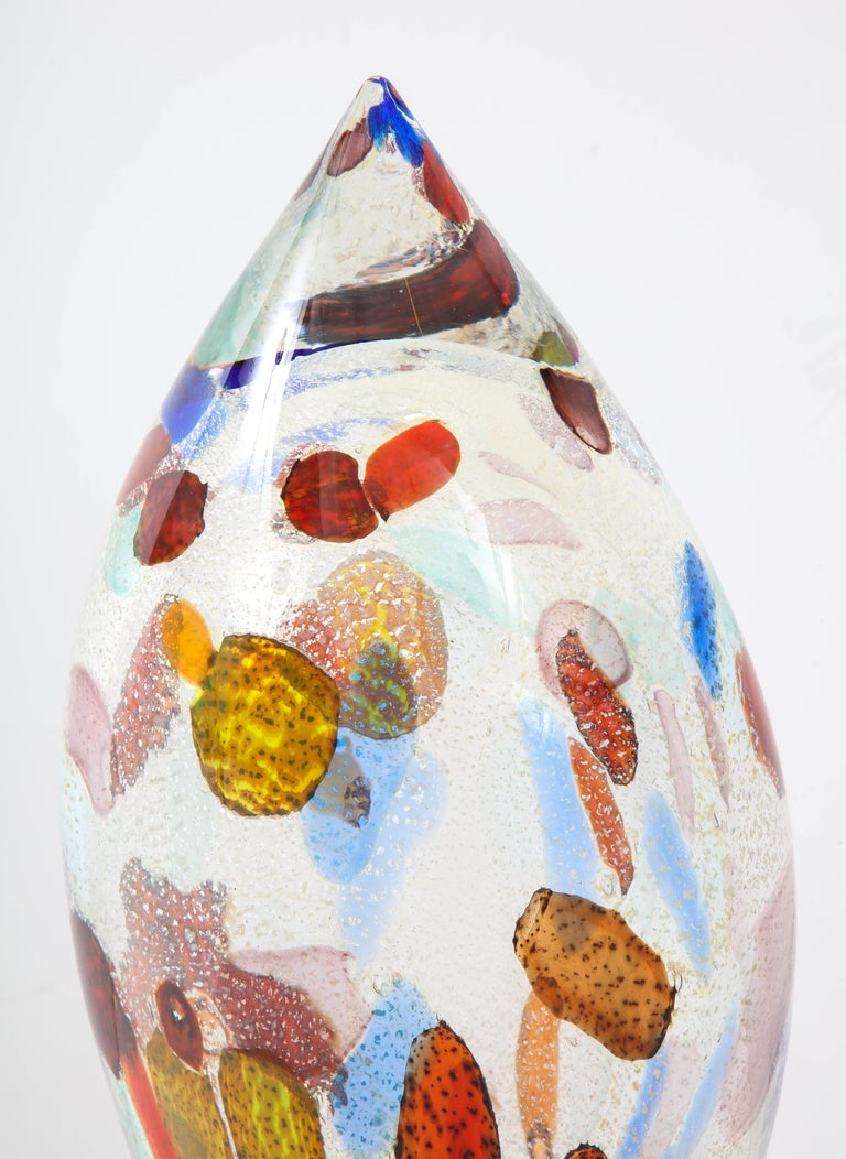 Late 20th Century 1980s Murano Glass Large Modernist Sculpture For Sale