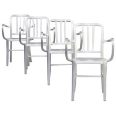 1980s 'Navy' Aluminium Dining Chair for Emeco Set of 4