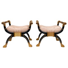 1980s Neoclassical Style Maitland-Smith Benches, a Pair