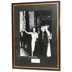 1980s NYC Waldorf Astoria Hotel Duke and Duchess of Windsor Framed Photograph