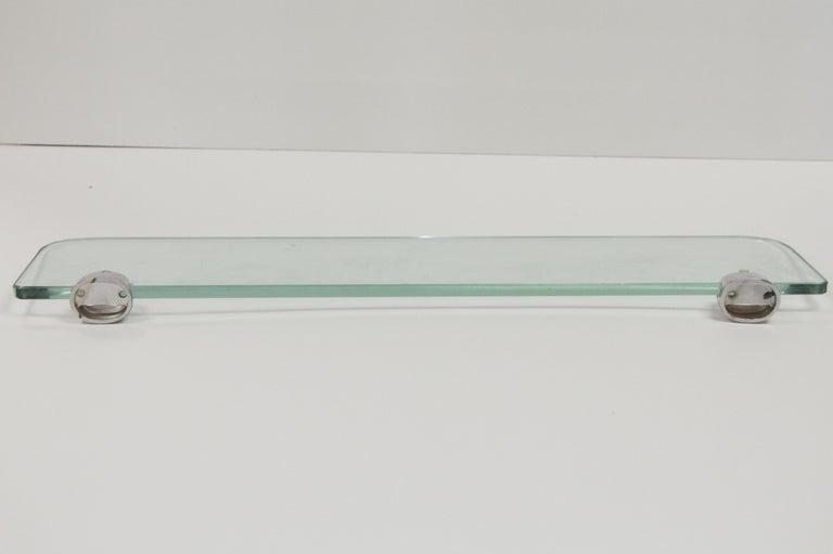 Salvaged Waldorf Bathroom Mid Century Glass /& Towel Bar
