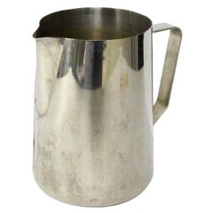 1980s NYC Waldorf Astoria Hotel Stainless Steel Milk Frothing Jug