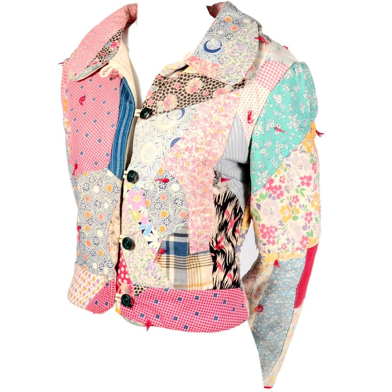 1980s One of a Kind Quilted Vintage Jacket Jane Beckwith Custom Bearware