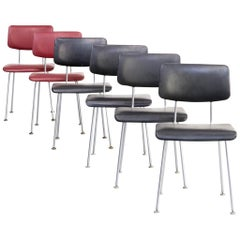 1980s Ontwerpbureau N.v. Gispen 1231/1232 Cirrus Chairs for Gispen, Set of 6