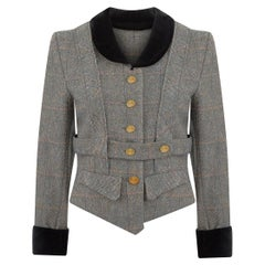 1980s Original Time Machine Collection Vivienne Westwood Harris Tweed Jacket