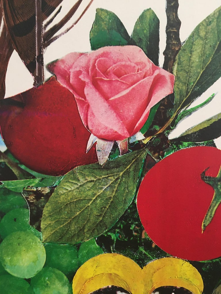 International Style 1980s Original Vintage French Fashion Shoe Poster, 'Bally Fruit Bezombes' For Sale