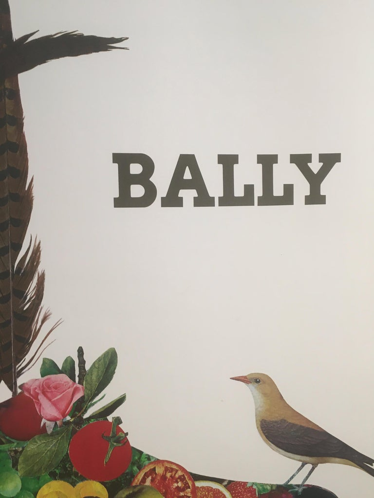 Paper 1980s Original Vintage French Fashion Shoe Poster, 'Bally Fruit Bezombes' For Sale