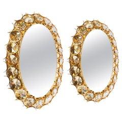 1980s Pair of Backlight Jewel Mirror