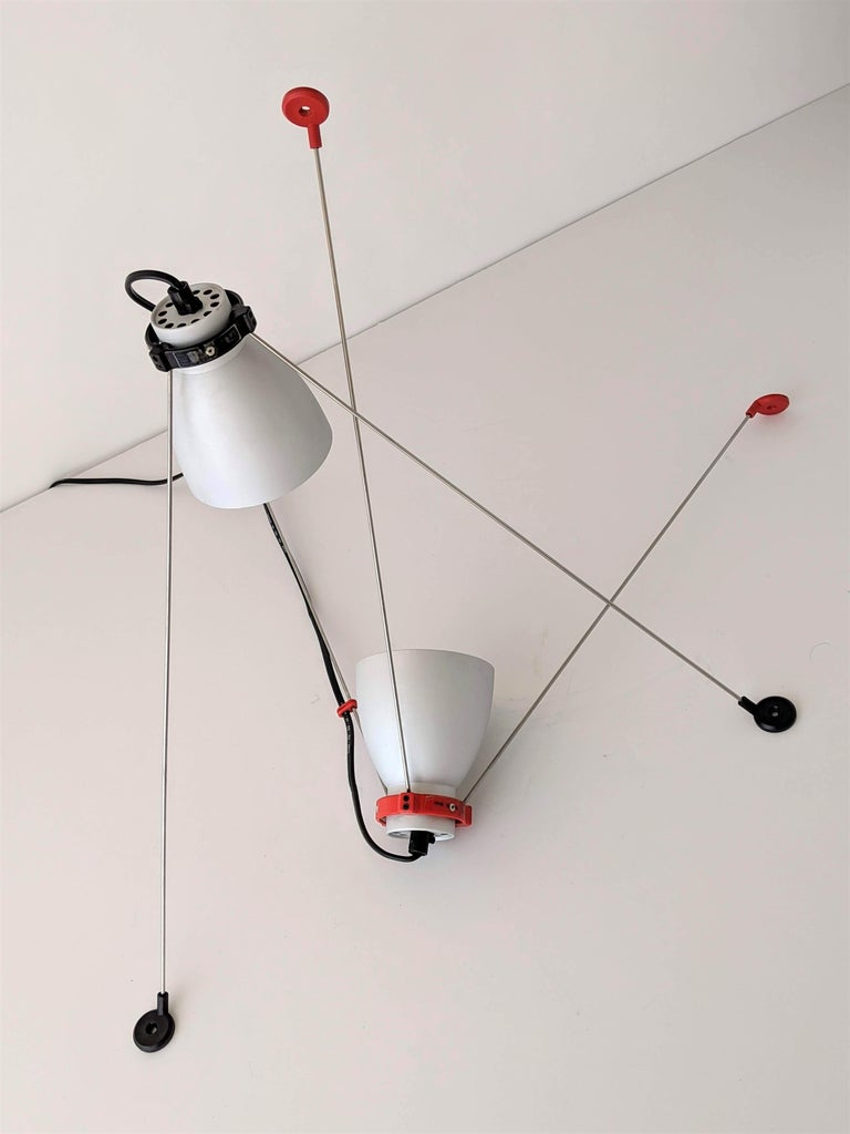 Modern 1980s Pair of ''Grifo'' Table or Wall Lamp by Artemide, Italy For Sale