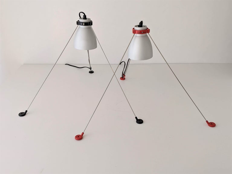 Italian 1980s Pair of ''Grifo'' Table or Wall Lamp by Artemide, Italy For Sale
