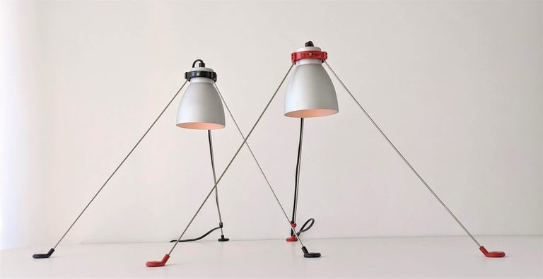 Anodized 1980s Pair of ''Grifo'' Table or Wall Lamp by Artemide, Italy For Sale