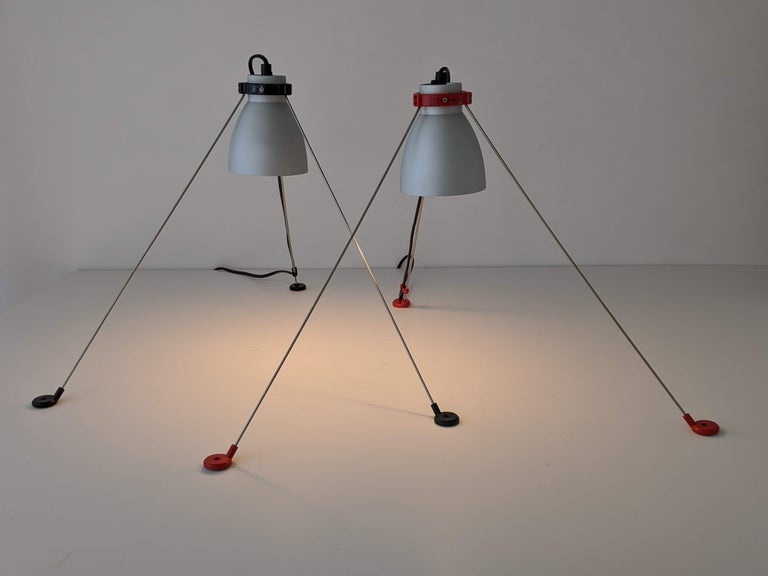1980s Pair of ''Grifo'' Table or Wall Lamp by Artemide, Italy In Good Condition For Sale In St- Leonard, Quebec