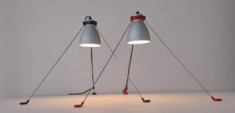 Late 20th Century 1980s Pair of ''Grifo'' Table or Wall Lamp by Artemide, Italy For Sale