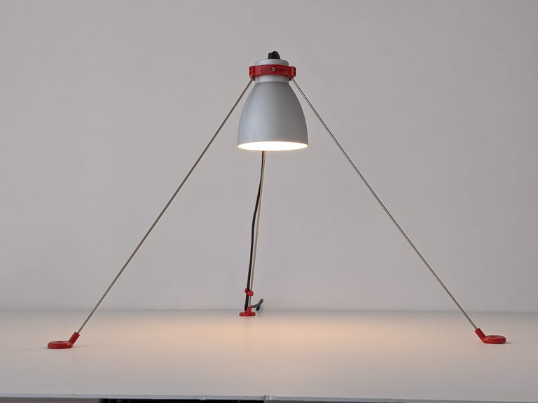 Aluminum 1980s Pair of ''Grifo'' Table or Wall Lamp by Artemide, Italy For Sale
