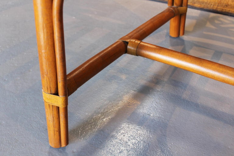 1980s Pair of Oriental Style Bamboo Chairs For Sale 8
