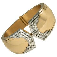 1980s Paul Binder Diamond and Gold Bracelet