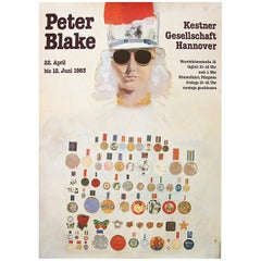 1980s Peter Blake Exhibition Poster Pop Art