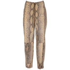 1980s Phyton Skin Trousers