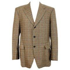 Pierre Cardin Harris Tweed Beige Wool Classic Jacket 1980s