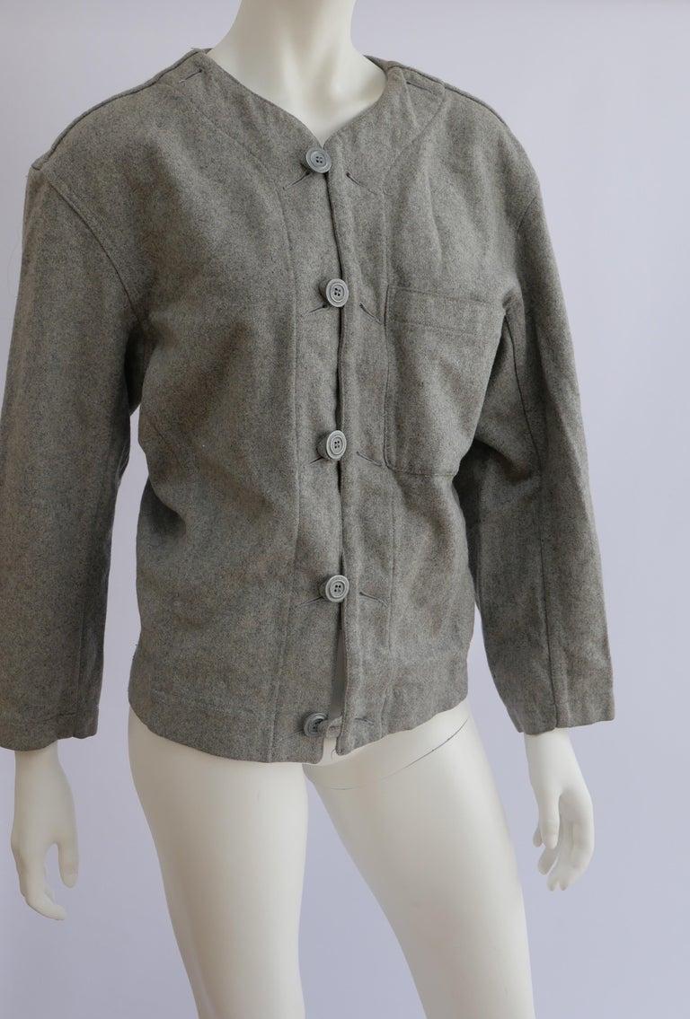 Gray 1980's Plantation Issey Miyake Jacket  For Sale