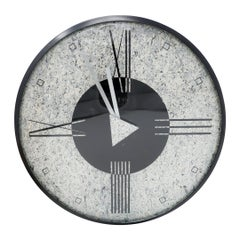 1980s Postmodern Wall Clock by Empire Arts