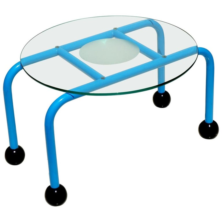 1980s Postmodern Coffee Table Memphis Style For Sale