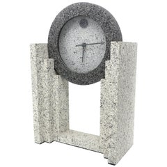 1980s Postmodern Mantel Clock by Empire Arts