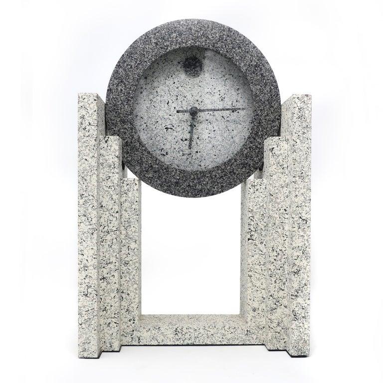 Post-Modern 1980s Postmodern Mantle Clock by Empire Arts