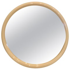 1980s Postmodern Round Plastic Wall Mirror by Interdesign