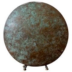 1980s Postmodern Signed Bronze Vase