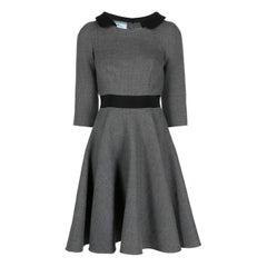 1980s Prada Grey Wool Skate Dress