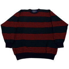 1980s Pringle of Scotland Checkerboard Wool Sweater