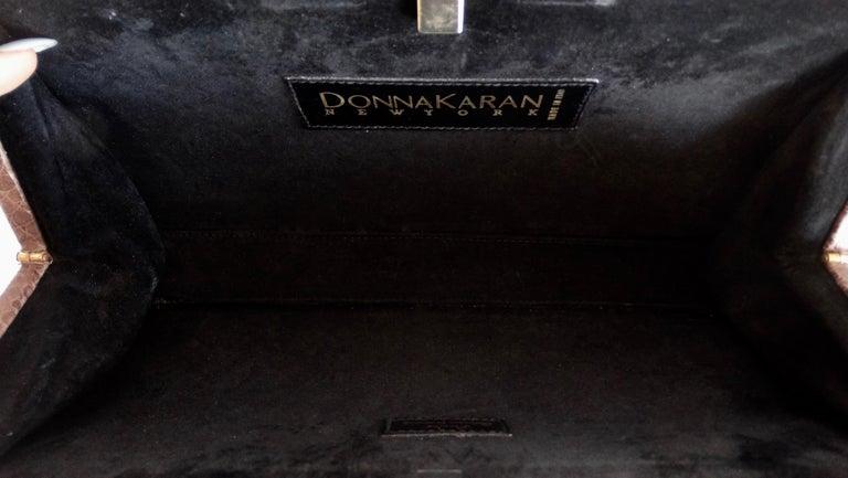 Donna Karan 1980s Caiman Crocodile Clutch For Sale 1