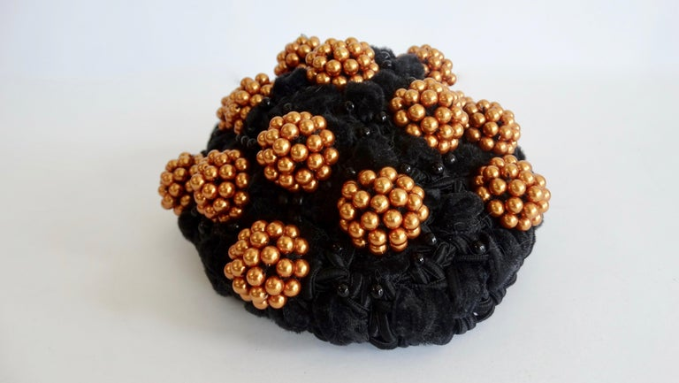 1980s rare Isabel Canovas Beaded Cluster Bun Cover  For Sale 2