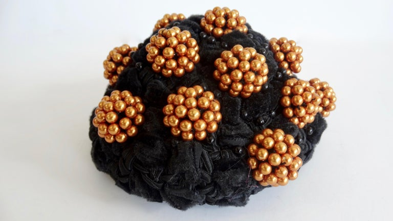 1980s rare Isabel Canovas Beaded Cluster Bun Cover  For Sale 4