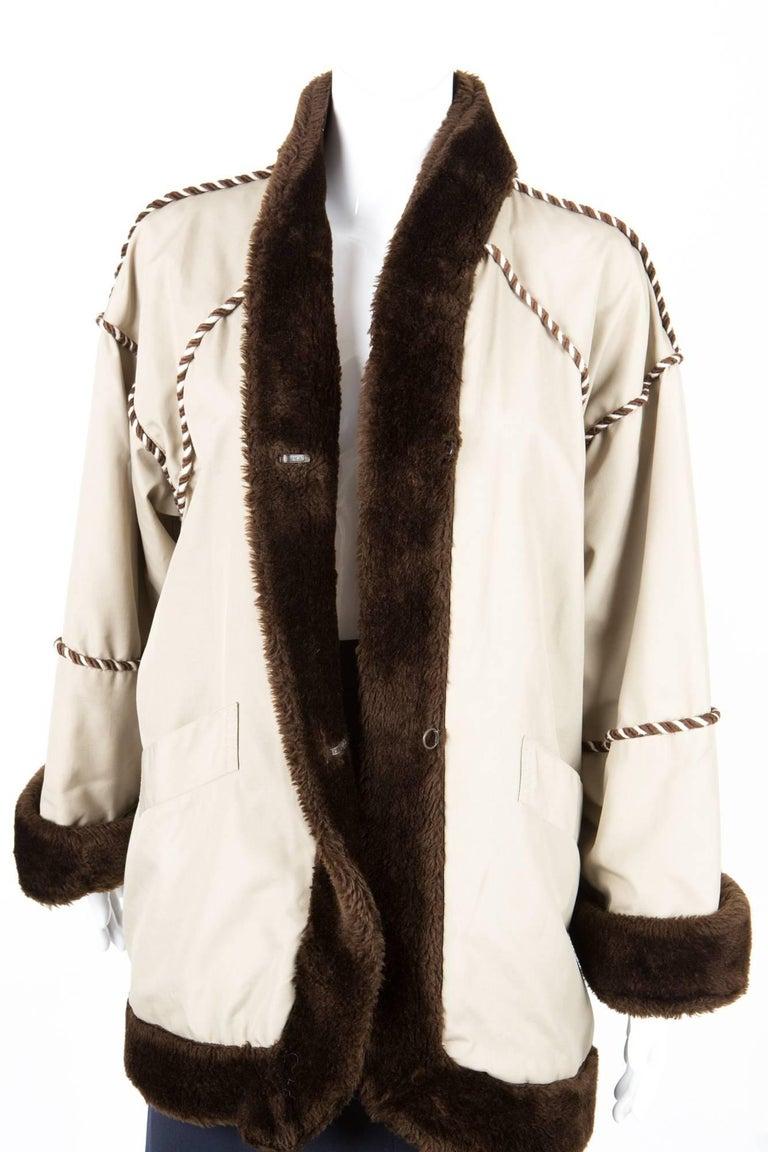 Beige 1980s Rare Yves Saint Laurent Camel Pelisse Coat For Sale