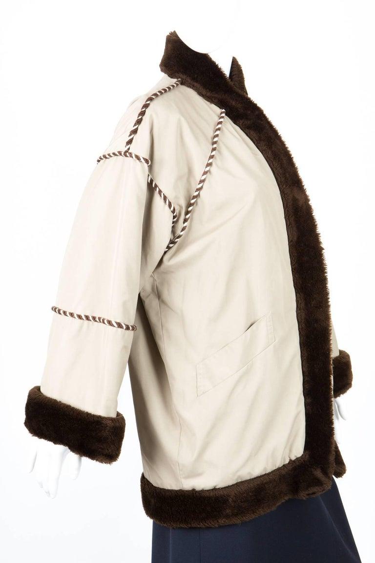 1980s Rare Yves Saint Laurent Camel Pelisse Coat In Good Condition For Sale In Paris, FR