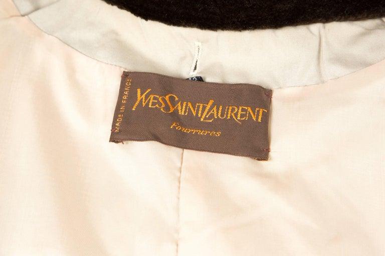 1980s Rare Yves Saint Laurent Camel Pelisse Coat For Sale 1