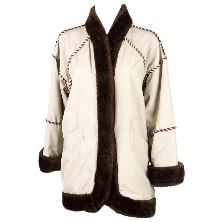 1980s Rare Yves Saint Laurent Camel Pelisse Coat For Sale