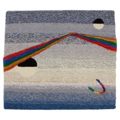1980's Retro Rug Wall or Tapestry by Designer Rugs of Australia, Space Fantasy