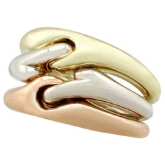 1980s Rose White and Yellow Gold Ring by Bulgari