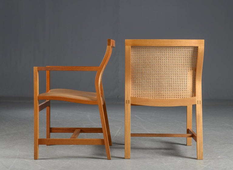 Danish 1980s Rud Thygesen, Johnny Sorensen Set of Ten Armchairs For Sale