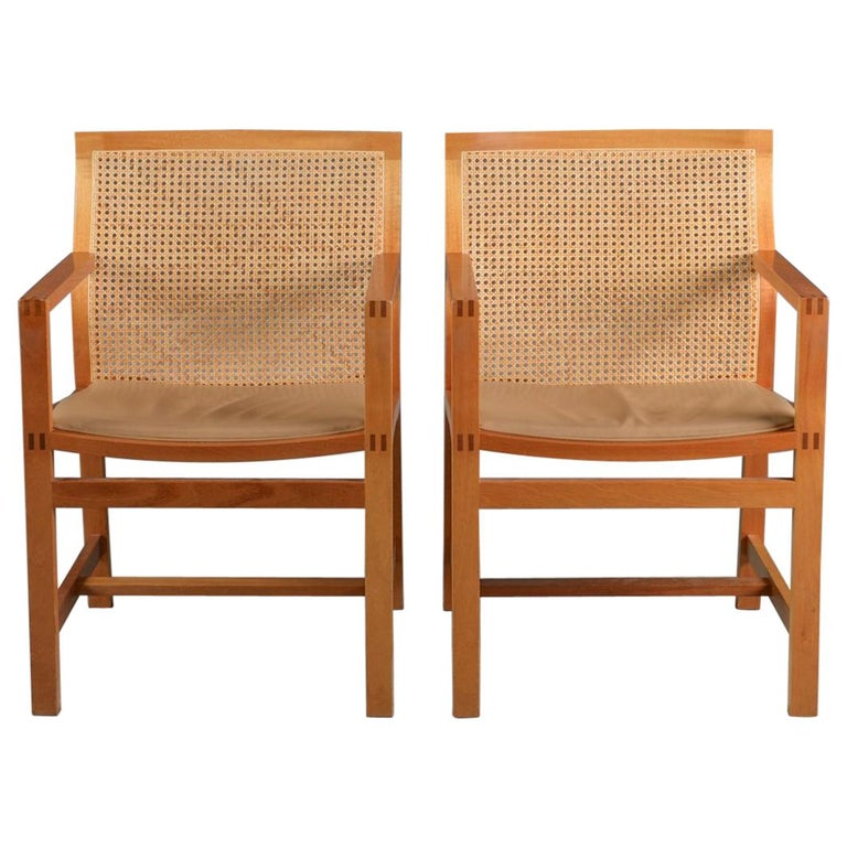 1980s Rud Thygesen, Johnny Sorensen Set of Ten Armchairs For Sale