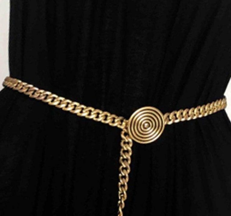 Women's 1980s Saint Laurent Copper Chain Belt For Sale