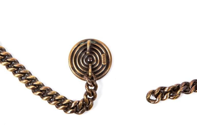 1980s Saint Laurent Copper Chain Belt For Sale 1