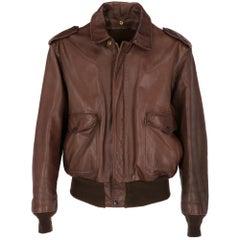 1980s Schott USA Brown Leather Jacket