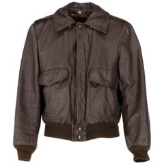 1980s Schott USA Dark Brown Leather Jacket